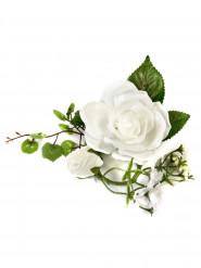 Petite composition fleurs artificielles blanches