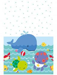 Nappe en plastique 1er anniversaire Océan 137 x 213 cm