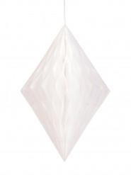 Losange alvéolé blanc 35 cm