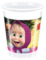 8 Gobelets plastique Masha et Michka™ 20 cl