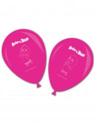 8 Ballons latex roses Masha et Michka™