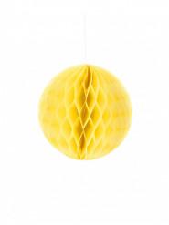 Mini boule papier alvéolé jaune 12 cm
