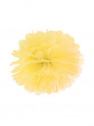 Pompon à suspendre en papier jaune 25 cm