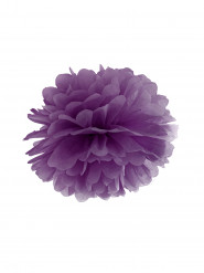Pompon à suspendre en papier violet 25 cm