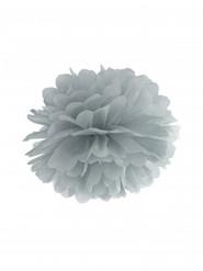 Pompon à suspendre en papier gris 25 cm