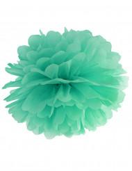 Pompon à suspendre en papier menthe 35 cm