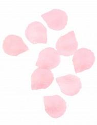 100 Pétales de rose en tissu rose