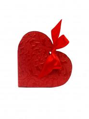 10 Boites à dragées coeur rouge
