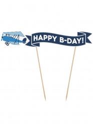 Pic de décoration pour gâteau Little plane