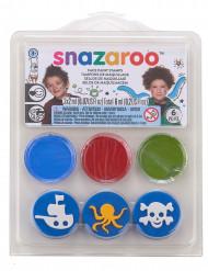 Mini kit maquillage et tampons modèle Sous l'océan & pirates Snazaroo™