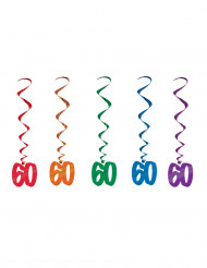 5 Suspensions spirales 60 ans