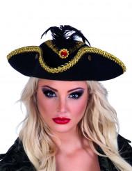 Chapeau tricorne pirate femme
