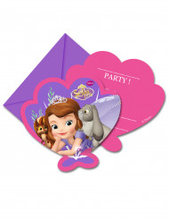 6 Cartes d'invitation avec enveloppes Princesse Sofia sirène™