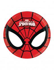 8 Petites assiettes en carton Ultimate Spiderman™
