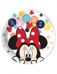 8 Assiettes en carton Minnie™ 23 cm
