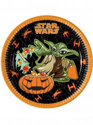 8 Assiettes en carton Halloween Star Wars™ 23 cm