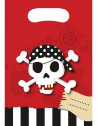 6 Sacs cadeaux Carte au trésor Pirate