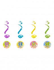 4 Suspensions spirales 18 ans Fiesta 60 cm