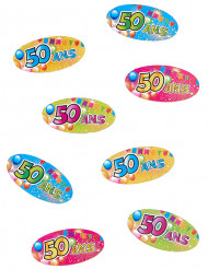 80 confettis de table 50 ans Fiesta