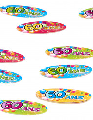 80 confettis de table 60 ans Fiesta