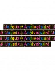 Bannière métallisée Joyeux anniversaire Feux d'artifice 3.60 m