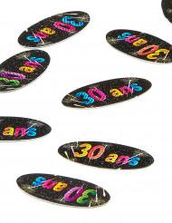 80 confettis de table 30 ans Feux d'artifice