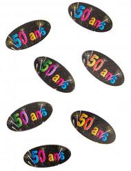 80 Confettis de table papier 50 ans Feux d'artifice