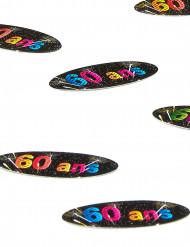 80 confettis de table 60 ans Feux d'artifice
