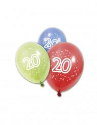 8 Ballons anniversaire 20 ans