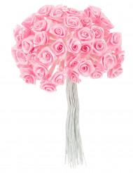 72 Mini roses satin roses