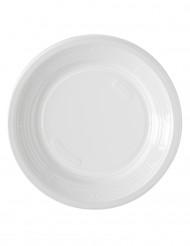 50 Assiettes à dessert en plastique blanc 17 cm