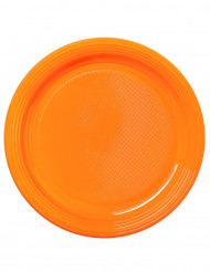 30 Assiettes orange mandarine 22 cm