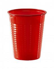 50 Gobelets en plastique rouge 20 cl