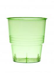 10 Gobelets en plastique vert 25 cl