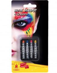 4 Crayons de maquillage néon