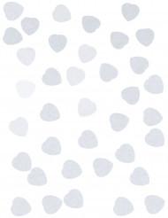 Confettis petit coeur blanc 50g