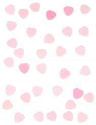 Confettis petit coeur rose 50 g