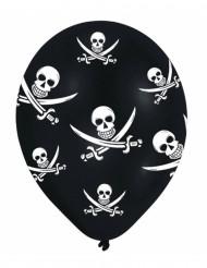 6 Ballons Pirate tête de mort