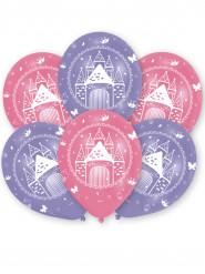 6 Ballons latex château de princesse