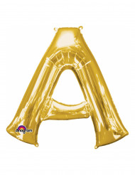 Ballon aluminium Lettre A doré 33 cm