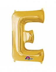 Ballon aluminium Lettre E doré 33 cm