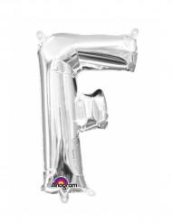Ballon aluminium lettre F argenté 33 cm