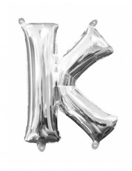 Ballon aluminium Lettre K argenté 33 cm