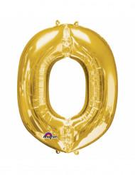 Ballon aluminium Lettre O doré 33 cm