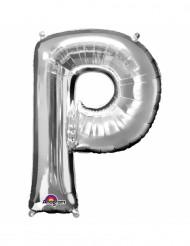 Ballon aluminium Lettre P argenté 33 cm