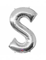 Ballon aluminium Lettre S argenté 33 cm