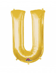 Ballon aluminium Lettre U doré 33 cm
