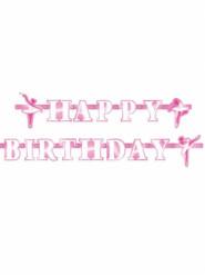 Guirlande Happy Birthday Ballerine 180 cm