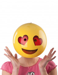 Masque smiley amoureux adulte
