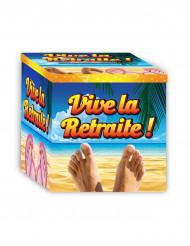 Urne en carton Vive la Retraite 20 x 20 cm